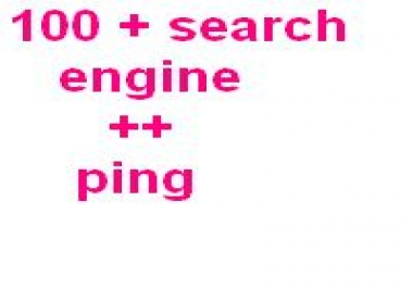 submit your website more than 100 search engine + pin... for $1