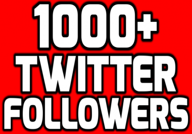 Provide Instantly 1000+ Permanent Twitter FoIIowers W... for $1