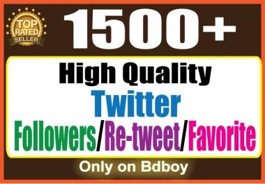 Add 1500 TW Followers