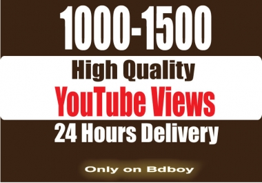 Instantly 1000-1500 SUPER FAST High Retention youtube... for $1