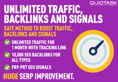 UNLIMITED traffic with 10,000 Backlinks for your website, blog or video