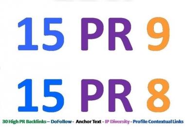 Provide 30 PR8 or above backlinks for your website