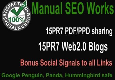 Create Hummingbird safe 15 PR7 PDF submission and 15 PR8 Web2 Blogs