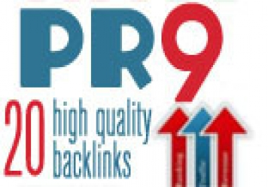 create you 20 ► PR9 backlinks from 20 different PR ... for $10