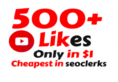 I will Add Super Fast 500+ Real YouTube Likes