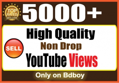 Provide you 5000  YouTube VieWS