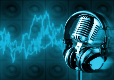 I will record a Professional English voiceover up to 60 seconds within 24 hours
