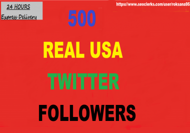 Give you 500 Real And GENUINE  USA Twitter Followers... for $1