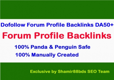 160 DoFollow Forum Profile Backlinks to Boost Rank DA50-DA100