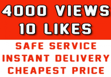 Fast 2000 Youtube Vews + 10 Likes to improve Youtube ... for $1