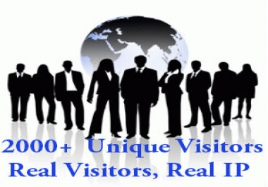 send 2000 unique and real VISITORS to your website