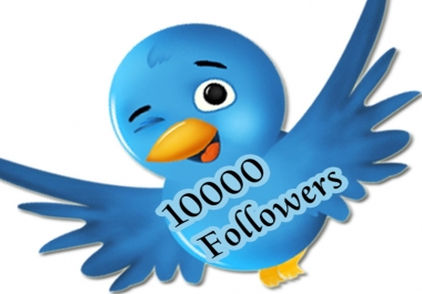 Give you High Quality 2,000++ Twiitter followers  for $1