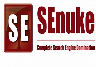 Create powerful The Full Monty SEnukeXCR that brings huge backlink power
