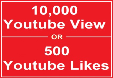 Add 10,000 HR Views or 2500 Youtube Likes