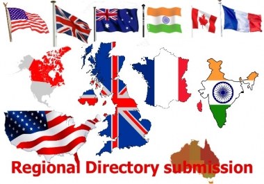 manually submit your website in 30 high page rank Local or regional directory