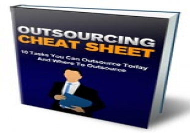 SEOClerks Outsourcing Cheat Sheet  for $1