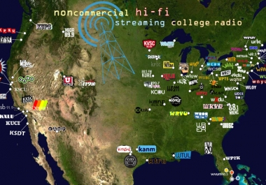 send your song to the most popular college radio stations in the picture below