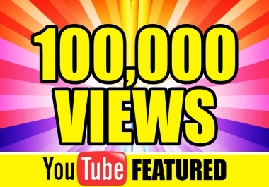Get Your Safe 100,000 (100k+) High rention You Tube Views + 10 Likes 3 days  Fast Delivery