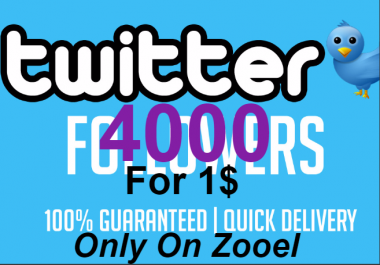 Cheapest & Amazing 4000+ Verified twitter followers In 1-12 hours