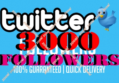 Cheapest & Amazing 3000+ Verified twitter followers In 12-24 hours