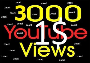 Non drop 3000+ HR Youtube Vie ws