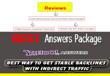 Yahoo Answers Promotion using Level 3 with Live URL
