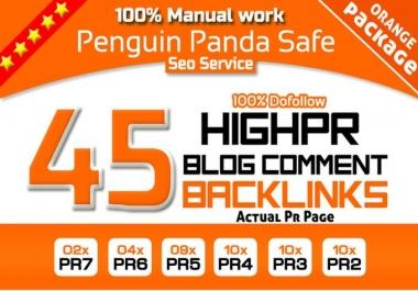 do Manual 45 Highpr SEO Backlinks 2PR7 4Pr6 9Pr5 10Pr4 10Pr3 10PR2 Do follow