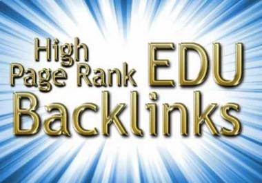 50 PR1 - PR4 Edu Actual Page backlinks through Blog comments