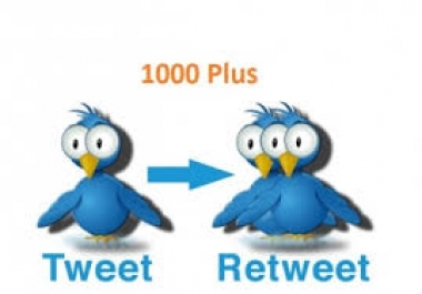 give you Instant 2000+ quality Retweets Or Favorite with... for $1