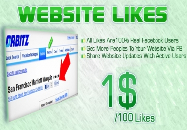 provide 100+ verified Facebook Website likes to your non... for $1