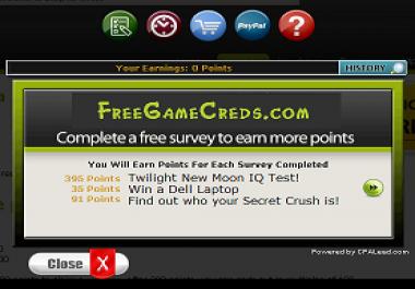 CPA Reward Website For Sale