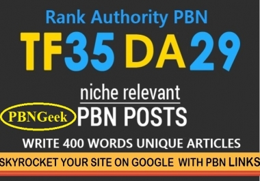 PBN Create 50 Blog Network with niche related articles & Indexing