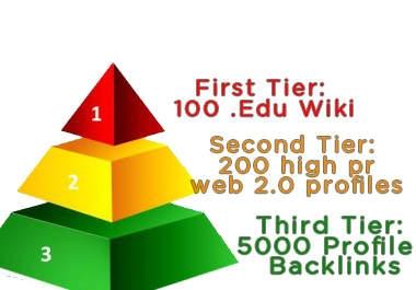 I will create a 12000 multi tier pyramid with 3tiers 100 Web20 high pr profiles 2000 tier2 xrumer profiles and 10000 tier3 xrumer links