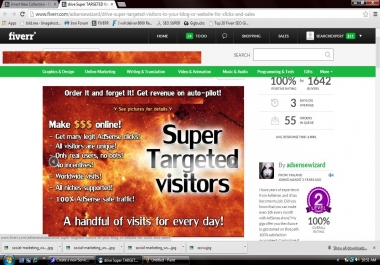 drive Super TARGETED Visitors For Clicks and Sales