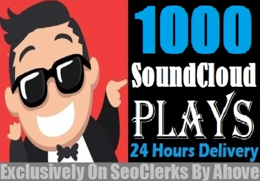 Start Instant 1000 SoundCloud Plays In Your Tracks for $1