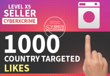 Add 100-1000 country targeted LIKES on your picture