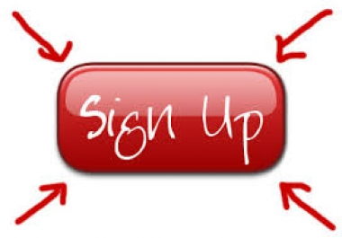 I will provide you 15 sign up related to your site
