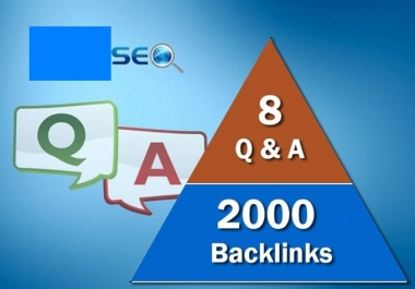 I will build 8 QUALITY seo backlinks from question answer sites plus 3000 links for