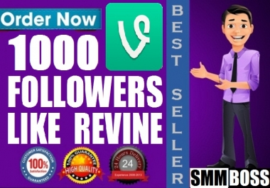 Provide Instant 1000 Vine Followers Or Likes Or Revines In Your Video