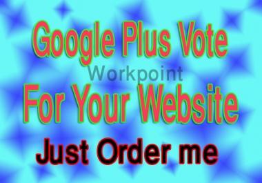 Add 105+ GOOGLE Plus Votes For Websites Or Google Plu... for $1