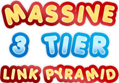 MASSIVE 3 Tier Link Pyramid with over 300 Web 2 posts plus 4000 high pr Wikis and 5000+ high pr blog