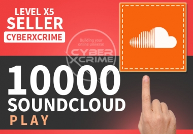 I will give you 100-10000 Soundcloud Play To Your Tra... for $1