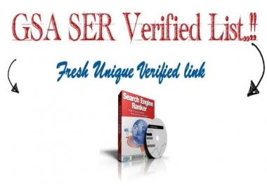 I will give you my 100k plus verified GSA ser list