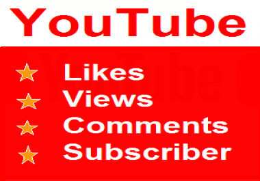 2000 high retention Views 200 YouTube Likes  100 Subscriber in your Video