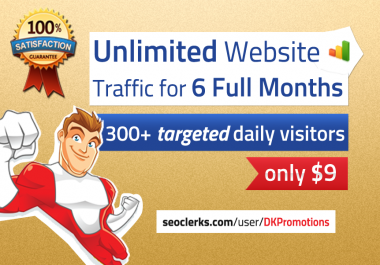 TARGETED real human Website TRAFFIC for 6 months