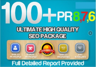 I will create 100 All In One Real High Pr Quality BACKLINKS Package l Dofollow, Seo