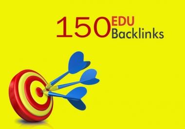 I will provide 150 EDU Backlinks