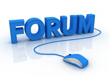 Create 40+ Forum Profile Backlinks 0-90 DA mixed and ping all links
