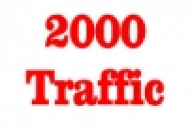 Give you 100%  Real 2000+ Traffic visitor on your website