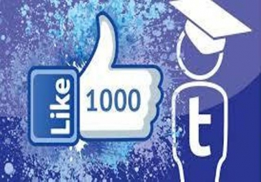 provide you 1,000 Facebook fan page-post-photo likes for $1